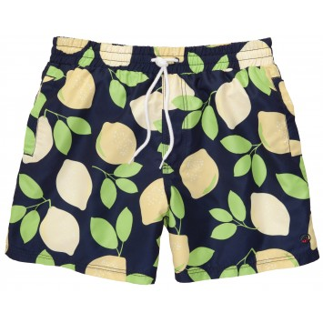 Lemon Lime Navy Swim